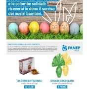 Sostieni Fanep con le Uova e le Colombe Solidali